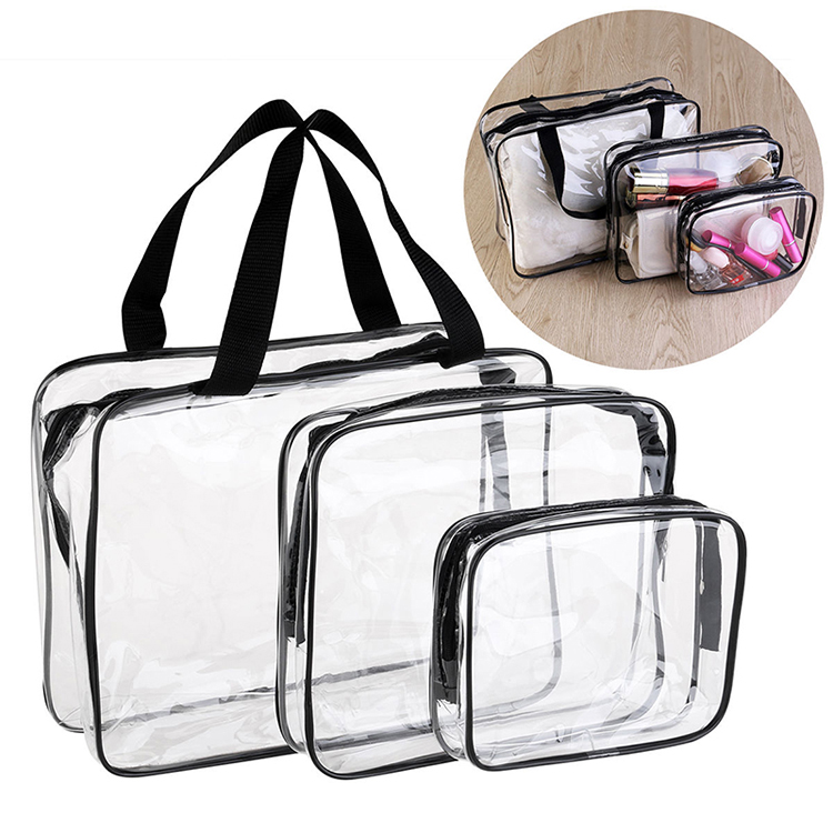 Toiletry Clear Travel Wash Bag. Toiletry Clear Travel Wash Bag 1 set. See through Bags making it ideal for travelling through airport. Ideal for make up, toiletries, handbag tidy and much more. 1 xT x2 Bobbi Brown Clear Cosmetic Makeup Bag Set Toiletry Travel Red Black Zip Top. $ Buy It Now.
