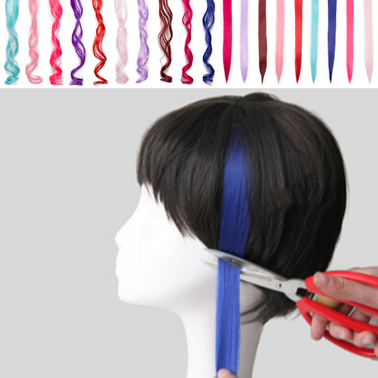 1 Streak 22 Clip In Hair Extensions Bright Color Party Hair Decors