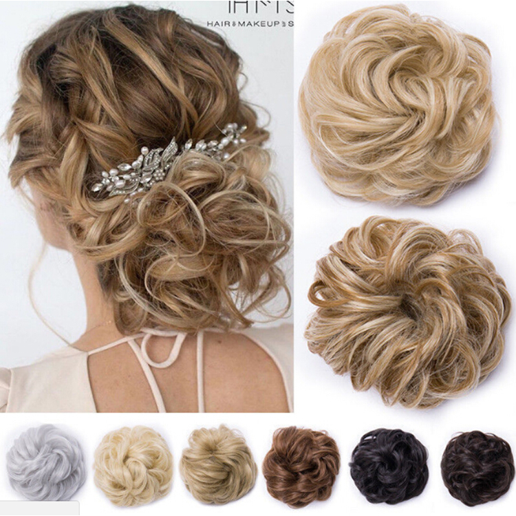 Uk Curly Messy Bun Hair Piece Scrunchie Updo Cover Hair Extensions